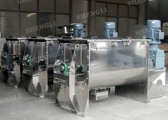 China High Efficiency Powder Ribbon Blender , Horizontal Single Shaft Mixer For Washing Powder supplier