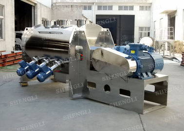 China Anti Corrosive Horizontal Plough Mixer , Horizontal Batch Powder Blender distributor